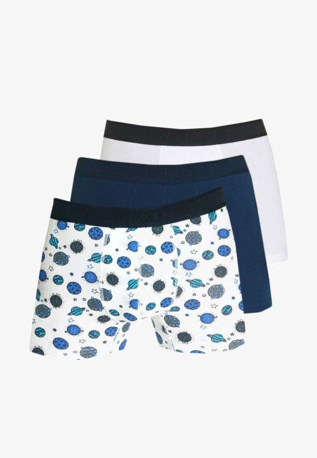 3PACK - Pants - weiss/navy/ecru