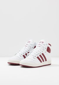 adidas Originals - TOP TEN - Zapatillas altas - footwear white/collegiate burgundy/chalk white - 2