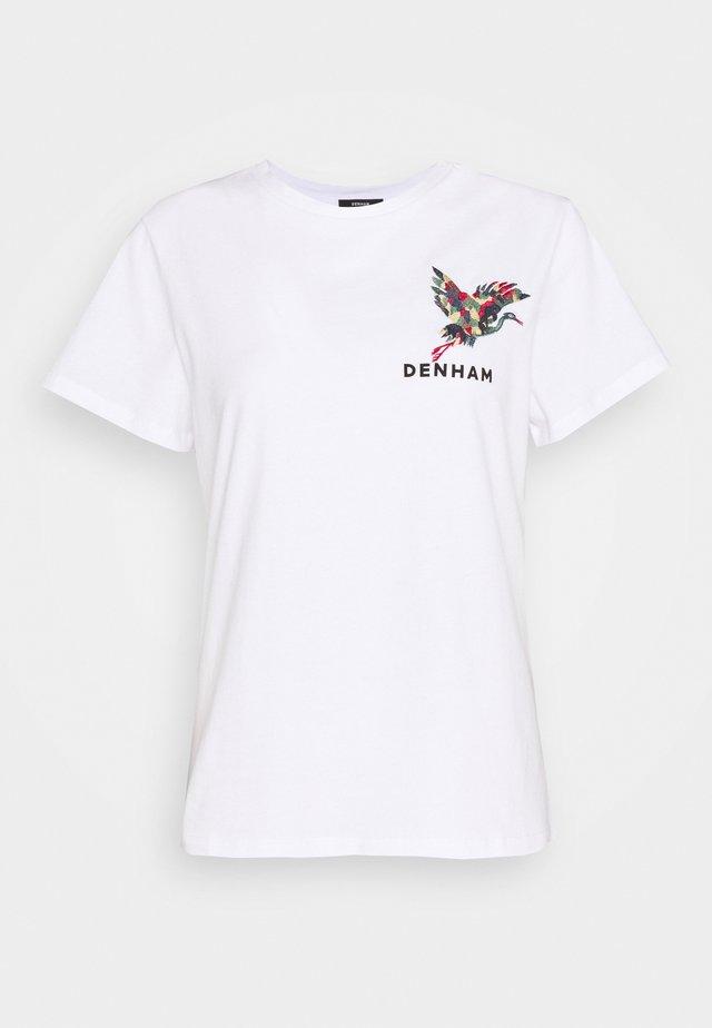 CRANE CAMELLIA TEE - T-shirt con stampa - white