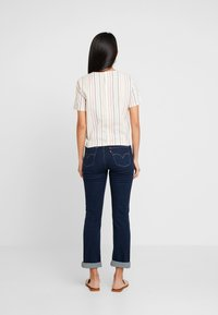 Madewell - TIE FRONT BUTTON BACK TEE IN RAINBOW NEPS STRIPE - T-shirts med print - pearl ivory - 2