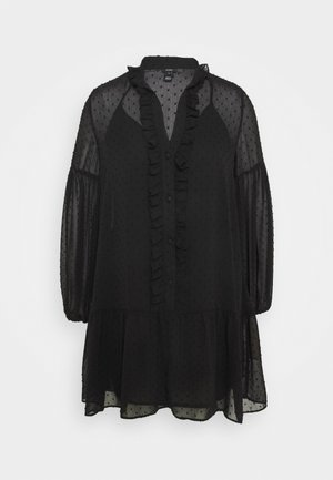 UMA DOBBY SMOCK DRESS - Robe d'été - black