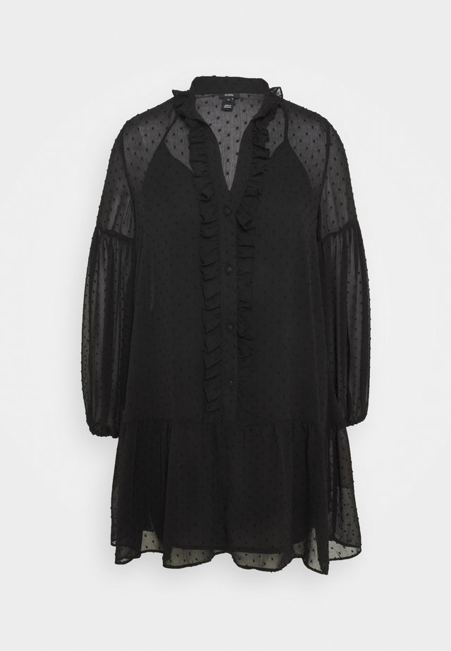 UMA DOBBY SMOCK DRESS - Robe d'été - black