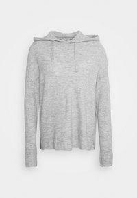 JDYELANOR HOOD - Jumper - light grey melange