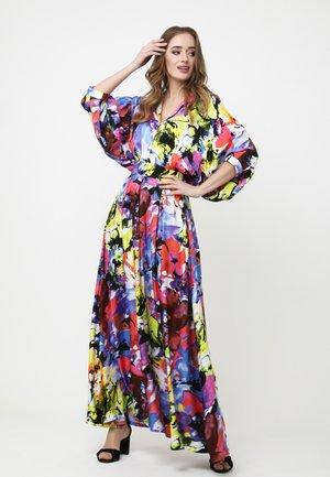 Maxi dress - lila, hellgrün