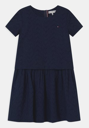 BRODERIE ANGLAISE - Cocktail dress / Party dress - twilight navy