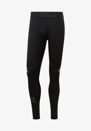 Alphaskin Sport+ Long 3-Stripes Tights - Medias - black