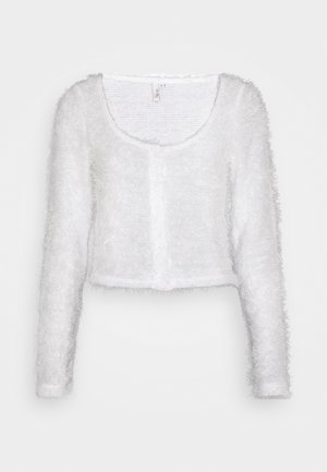 FLUFFY - Strickjacke - white