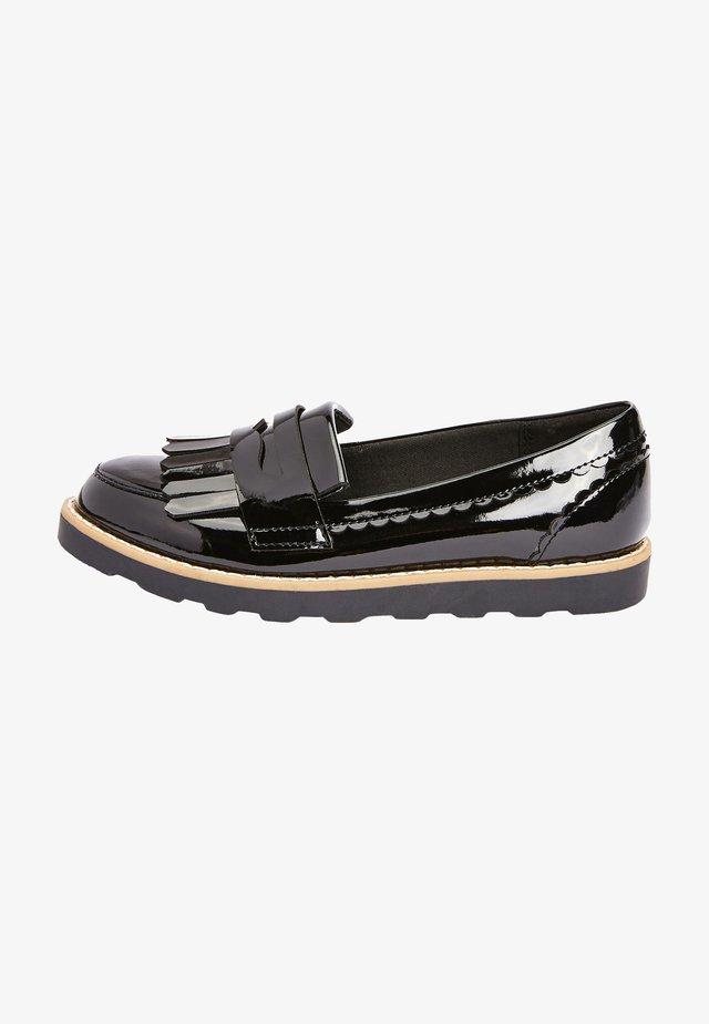 PATENT TASSEL - Scarpe senza lacci - black