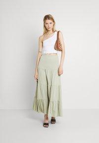 ONLY - ONLMAY LIFE SKIRT - Maxi skirt - desert sage - 1