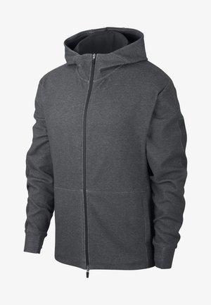 Zip-up hoodie - black/htr/black