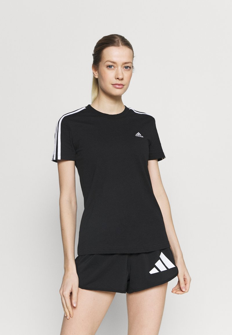 adidas Performance - T-shirts med print - black/white