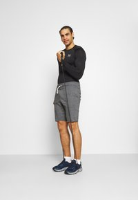 Under Armour - RIVAL TERRY SHORT - Träningsshorts - pitch gray full heather - 1