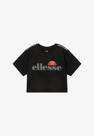 LISSARO CROPPED PERFORMANCE TEE - T-Shirt print - black
