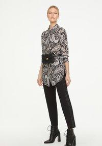 comma - Button-down blouse - black paisley - 1