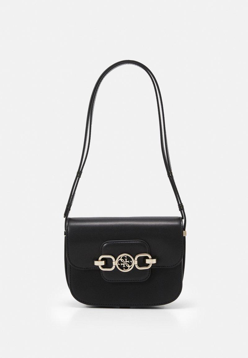Guess - HENSELY MINI XBDY FLAP - Across body bag - black