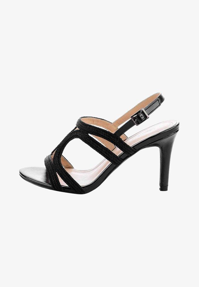 FILETTA - Sandalen met hoge hak - black