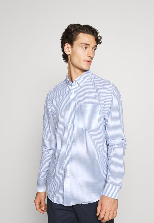 BUTTON DOWN HEATHER STRIPE SHIRT - Shirt - blue/white