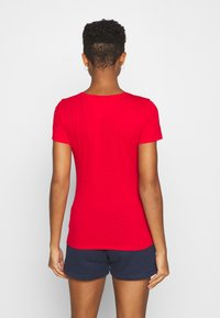 Tommy Jeans - ESSENTIAL LOGO TEE - Print T-shirt - deep crimson - 2