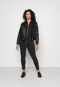 ONLY Carmakoma - CARCALLI ZIP - Jumpsuit - black denim - 1
