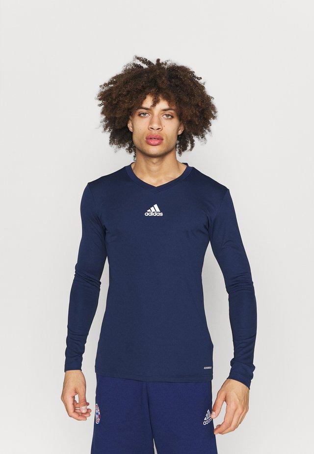 TEAM BASE TEE - Langarmshirt - dark blue