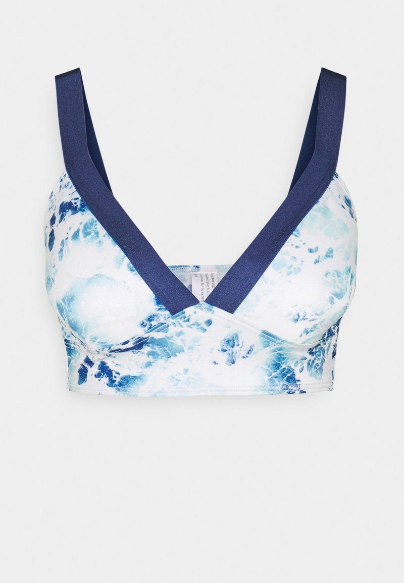 Sloggi - WOMEN SHORE YAP ISLANDS - Haut de bikini - blue/white