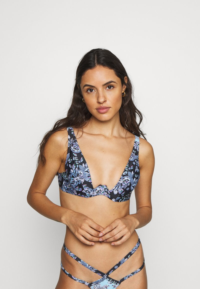 Wolf & Whistle - JEWEL BAROQUE - Bikini top - blue