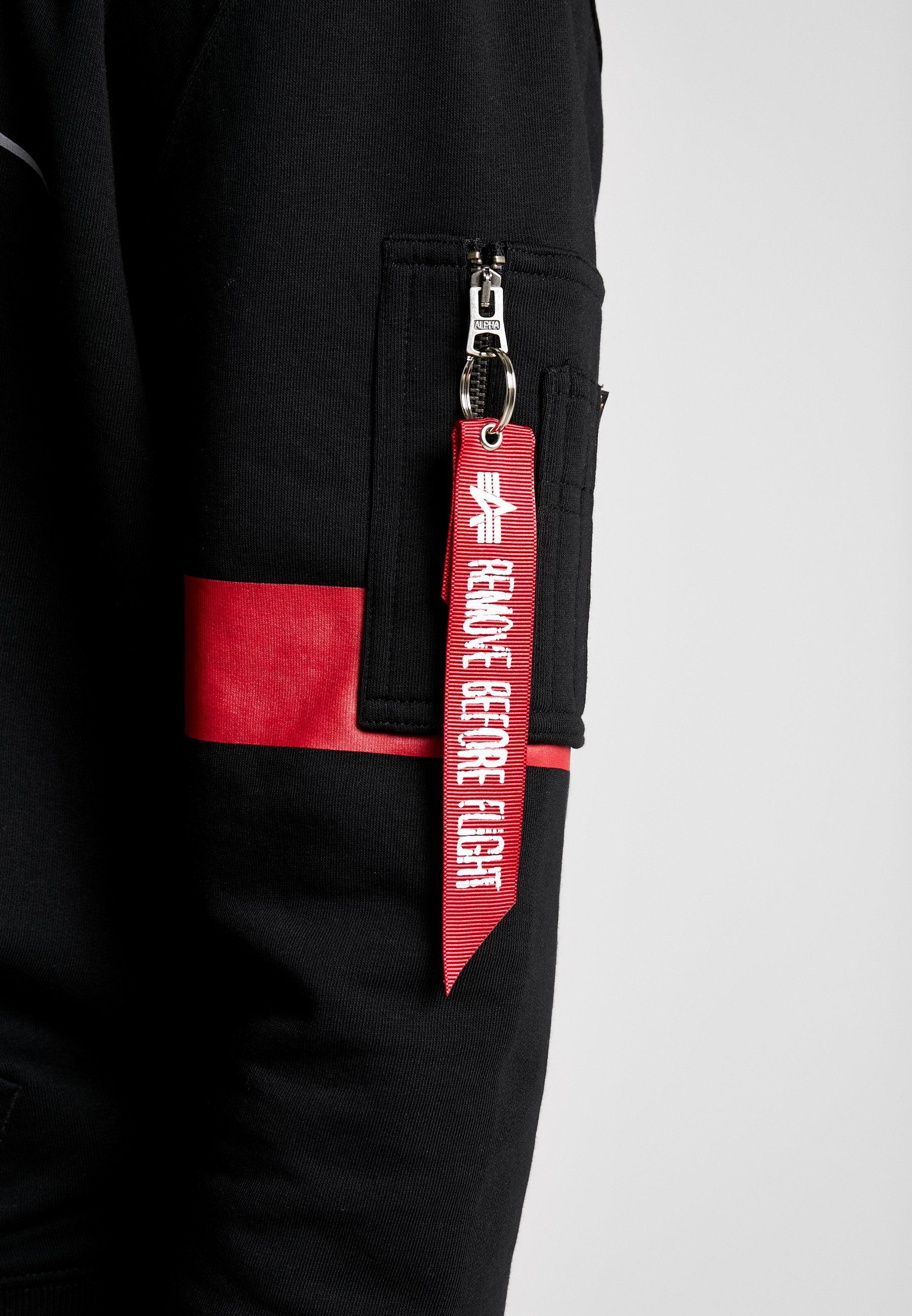 Alpha Industries Reflective Hoody Anniversary Capsule - Bluza Z Kapturem Black