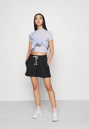 2 PACK - Basic T-shirt - black/grey