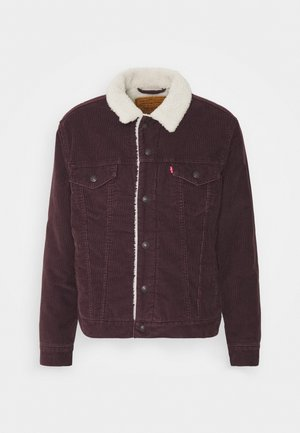 TYPE TRUCKER - Denim jacket - bordeaux, dark