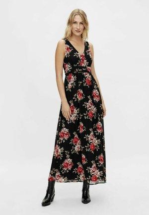 GEMUSTERTES V-AUSSCHNITT - Maxi dress - black