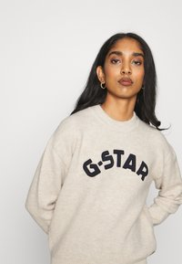 G-Star - COLLEGE GR ROUND LOOSE LLONG SLEEVE - Jumper - whitebait - 4