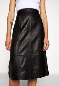 Proenza Schouler White Label - LIGHTWEIGHT PENCIL SKIRT - Pouzdrová sukně - black - 3