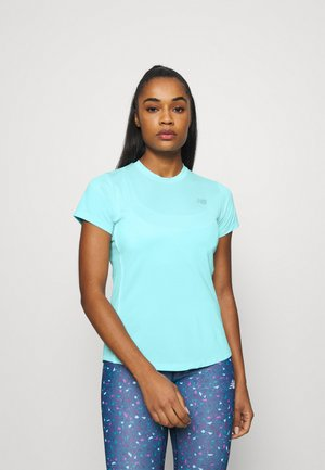 ACCELERATE SHORT SLEEVE - Camiseta estampada - glacier