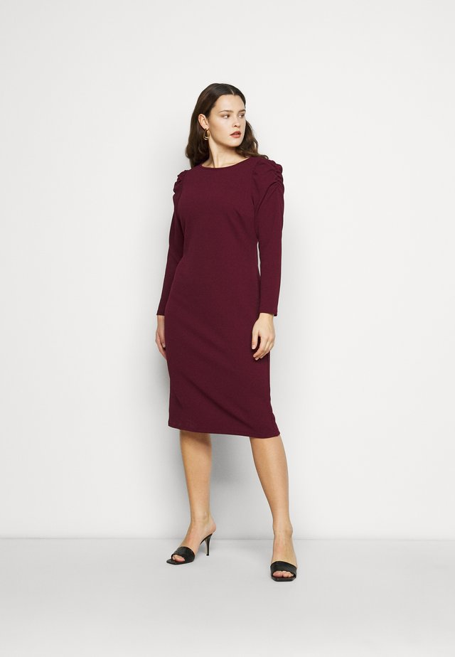 CURVE RUCHED SLEEVE BODYCON - Jerseykleid - berry