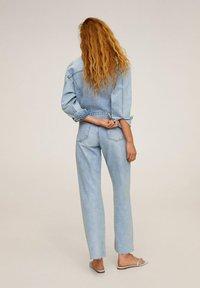 Mango - FIONA - Kurtka jeansowa - blu medio - 2