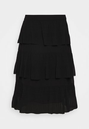 DURANTES - A-line skirt - black