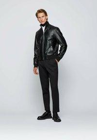 BOSS - NAFAN - Leather jacket - black - 1