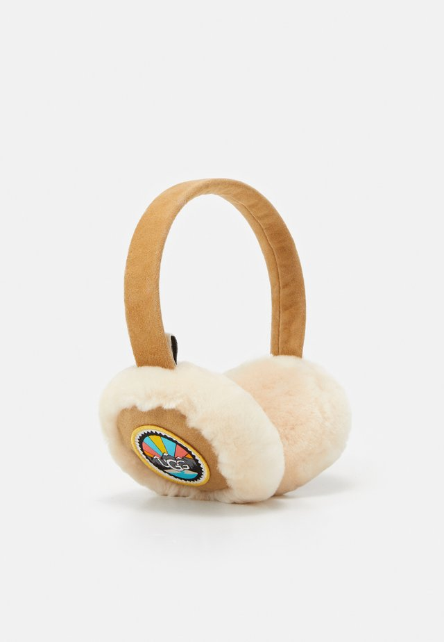 EARMUFF WITH PATCHES - Panta/korvaläpät - chestnut