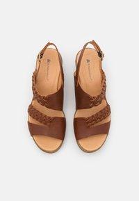 El Naturalista - LEAVES - Sandály na platformě - wood - 4