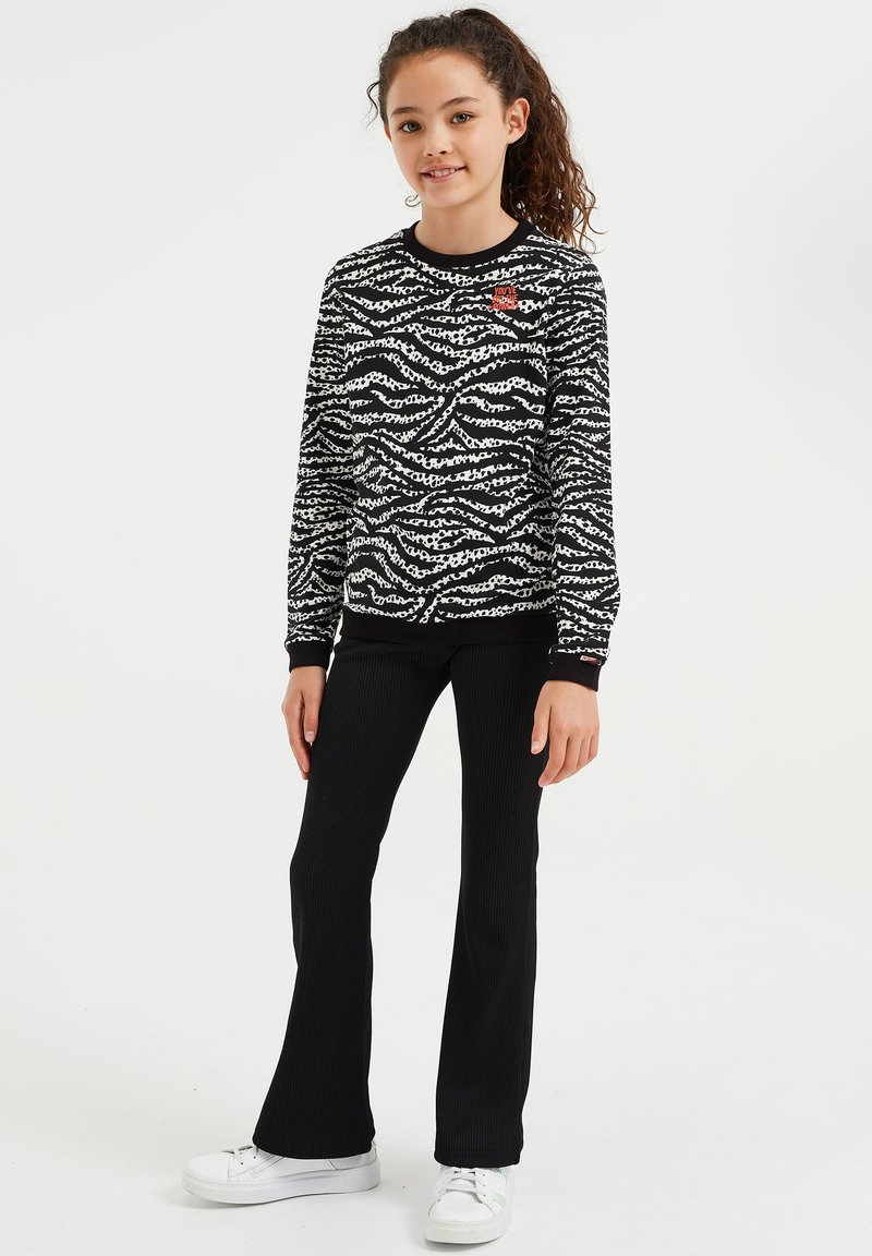 WE Fashion - MET DESSIN - Long sleeved top - black