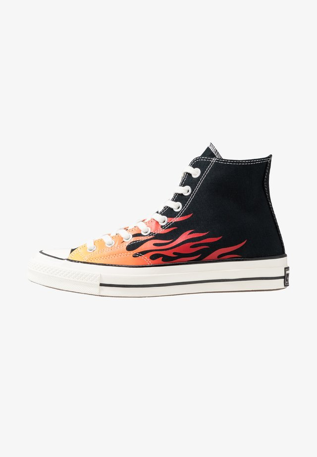 CHUCK TAYLOR ALL STAR 70 ARCHIVE PRINTS REMIXED - Sneakers hoog - black/enamel red/bold mandarin