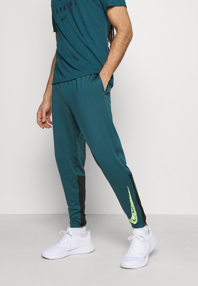 ESSENTIAL PANT - Tracksuit bottoms - dark teal green/black/ghost green