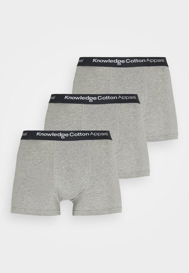 MAPLE UNDERWEAR 3 PACK - Pants - grey melange