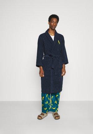 BATHROBE PYJAMA PANTS BANANAS SET - Dressing gown - blue