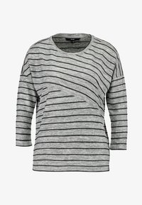 Vero Moda - VMCLAUDIA 3/4 O NECK - Long sleeved top - light grey melange/black - 3