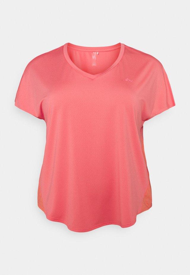 ONPJENSA CURVED TRAIN TEE - Camiseta básica - tea rose