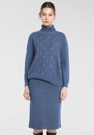 Pullover - jeansblau