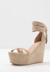 Even&Odd - LEATHER - High heeled sandals - sand - 4