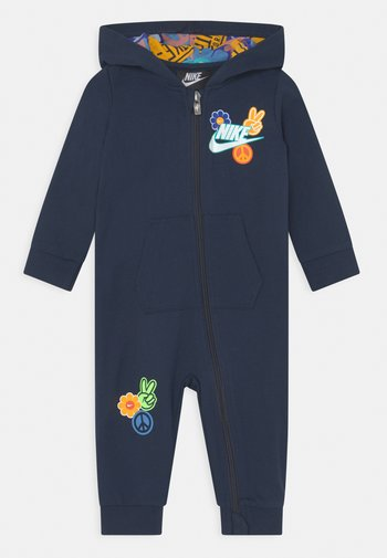 FLOWER CHILD HOODED COVERALL UNISEX - Jumpsuit - midnight navy