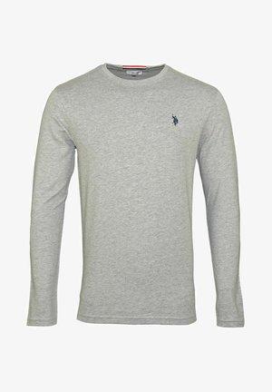 MIT RUNDHALSAUSSCHNITT R-NECK - Long sleeved top - grau